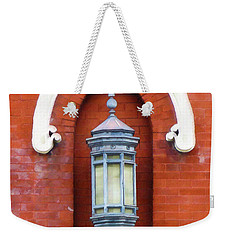 Weekender Tote Bag featuring the painting Guiding Light At The Mother Church by Sandy MacGowan