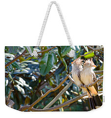 Weekender Tote Bag featuring the photograph Guira Cuckoo by Donna Brown