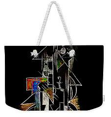 Guitar Abstract In Black Weekender Tote Bag