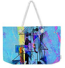 Guitar Abstract In Blue Weekender Tote Bag