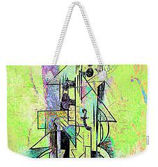 Guitar Abstract In Green Weekender Tote Bag