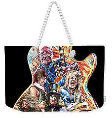 Guitar Legends Picking A Gibson Weekender Tote Bag