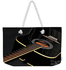 Weekender Tote Bag featuring the photograph Guitar Low Key By Kaye Menner by Kaye Menner
