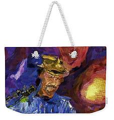 Guitar Man Weekender Tote Bag by Shirley Stalter