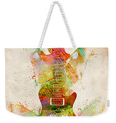 Weekender Tote Bag featuring the digital art Guitar Siren by Nikki Smith