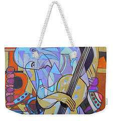 Weekender Tote Bag featuring the painting Guitar-six Strings by Denise Weaver Ross