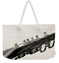 Weekender Tote Bag featuring the photograph Guitar Street Art By Kaye Menner by Kaye Menner