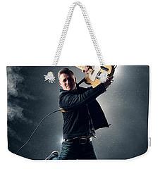 Guitarist Jumping High Weekender Tote Bag