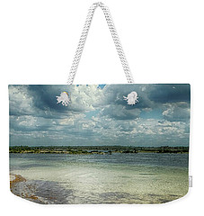 Weekender Tote Bag featuring the photograph Gulf Beach Beauty by Judy Hall-Folde