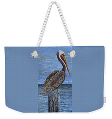 Gulf Coast Brown Pelican Weekender Tote Bag