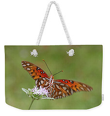 Gulf Fritillary On Elephantsfoot Weekender Tote Bag