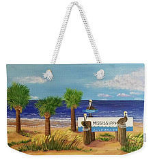 Gulf Shore Welcome Weekender Tote Bag