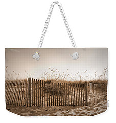 Weekender Tote Bag featuring the photograph Gulf Shores Beach - Sepia by Beth Vincent