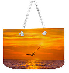 Gull At Sunrise Weekender Tote Bag