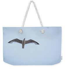 Weekender Tote Bag featuring the photograph Gull Flight by Michael Friedman