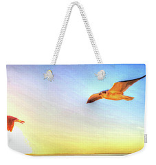 Gull In Sky Weekender Tote Bag