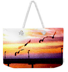 Weekender Tote Bag featuring the photograph Gull Play by Sadie Reneau