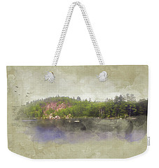 Weekender Tote Bag featuring the digital art Gull Pond by Christopher Meade