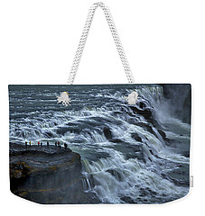 Gullfoss Waterfall #6 - Iceland Weekender Tote Bag