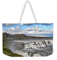 Gullfoss Waterfall Iceland Vi Weekender Tote Bag by Marianne Campolongo