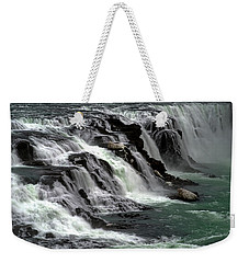 Gullfoss Waterfalls, Iceland Weekender Tote Bag by Dubi Roman
