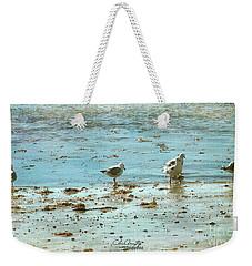 Gulls On The Edge Weekender Tote Bag