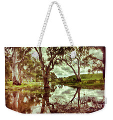 Weekender Tote Bag featuring the photograph Gum Creek V2 by Douglas Barnard