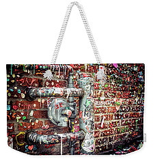 Weekender Tote Bag featuring the photograph Gum Drop Alley by Spencer McDonald
