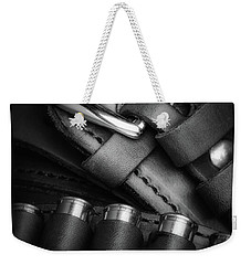 Weekender Tote Bag featuring the photograph Gunbelt by Tom Mc Nemar