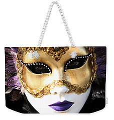 Gunilla Maria's Purple Feathers Weekender Tote Bag by Donna Corless