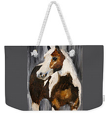 Weekender Tote Bag featuring the painting Gunnar by Barbie Batson