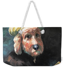 Weekender Tote Bag featuring the painting Gunther's Self Portrait by Diane Daigle