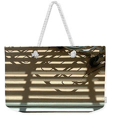 Gurneys Under A Pergola Through A Picture Window Weekender Tote Bag