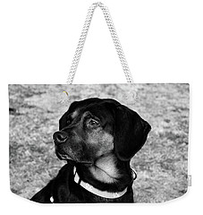 Gus - Black And White Weekender Tote Bag