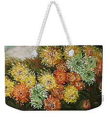 Gusty Chrysanthemums Weekender Tote Bag