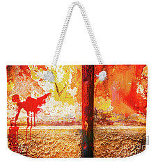 Weekender Tote Bag featuring the photograph Gutter And Decayed Wall by Silvia Ganora