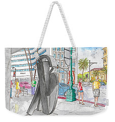 Guy Dill's Sculpture From The Belgian Suite, In Wilshire Blvd., Beverly Hills, California Weekender Tote Bag