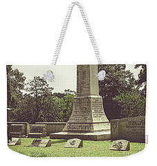Weekender Tote Bag featuring the photograph Gwaltney Monument In Smithfield Virginia by Melissa Messick