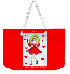 Weekender Tote Bag featuring the painting Gwen by Don Pedro De Gracia