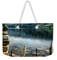 Weekender Tote Bag featuring the photograph Gwynant Lake by Adrian Evans