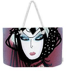 Weekender Tote Bag featuring the mixed media Gypsie by Ann Calvo