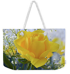 Gypsophila And The Rose. Weekender Tote Bag by Terence Davis