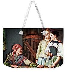 Weekender Tote Bag featuring the digital art Gypsy Card Reader by Pennie McCracken