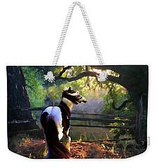 Weekender Tote Bag featuring the digital art Gypsy Fall by Melinda Hughes-Berland