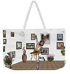 Digital Exhibartition _  Dancing Girl  Weekender Tote Bag