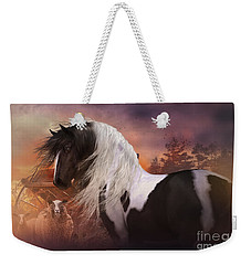 Weekender Tote Bag featuring the digital art Gypsy On The Farm by Shanina Conway