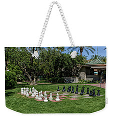 Weekender Tote Bag featuring the photograph H D R Chess At The Biltmore by Aimee L Maher Photography and Art Visit ALMGallerydotcom