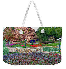 Weekender Tote Bag featuring the photograph H D R Flower Garden Walkway by Aimee L Maher Photography and Art Visit ALMGallerydotcom