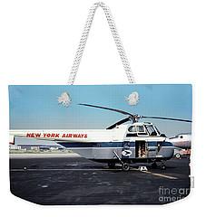 H406a, New York Airways, Skybus At Idlewild International Airpor Weekender Tote Bag by Wernher Krutein