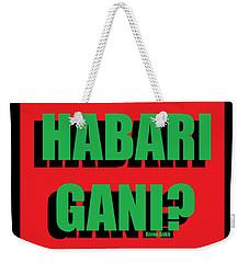 Habari Gani Weekender Tote Bag
